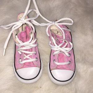 Pink girl converse